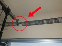 Broken Garage Door Spring Example Panama City Beach